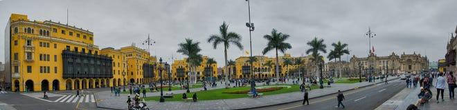 Plaza de Armas Panorama Στοκ φωτογραφία με δικαίωμα ελεύθερης χρήσης