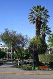 Plaza de Armas (plaza principal) en Arequipa, Perú Foto de archivo