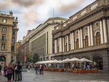 Plaza de Armas Santiago fa il Cile fotografie stock libere da diritti