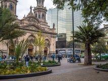 Plaza de Armas Santiago faz o Chile Fotos de Stock Royalty Free