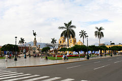 Plaza de Armas - Trujillo, Peru Royalty Free Stock Photos