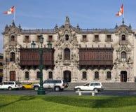 Plaza de Armes - Lima em Peru imagem de stock