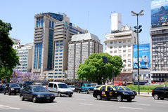 Plaza de Avenida 9 de Julio Royalty Free Stock Photo