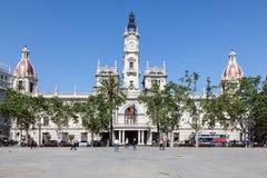 Plaza de Ayuntamiento στη Βαλένθια, Ισπανία Στοκ εικόνα με δικαίωμα ελεύθερης χρήσης
