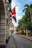 Plaza de Bolivar στην Καρχηδόνα Στοκ Εικόνα