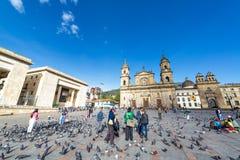 Plaza de Bolivar, Bogota fotografia stock