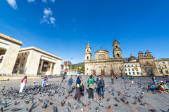 Plaza de Bolivar, Bogota Stock Photo