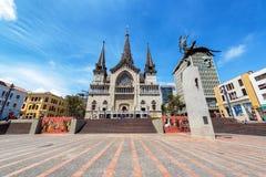 Plaza de Bolivar a Manizales, Colombia immagini stock libere da diritti