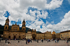 Plaza de Bolivar View Stockbild