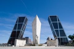 Plaza de Castilla Royalty Free Stock Photography
