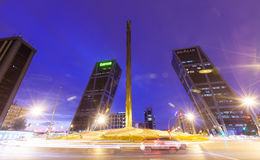 Free Plaza De Castilla In Night. Madrid, Spain. Stock Photo - 43692060