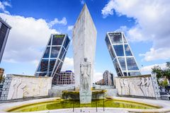 Plaza de Castilla in Madrid Royalty Free Stock Photography