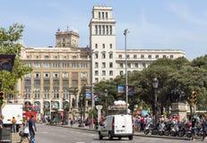Plaza de Catalunya Στοκ Φωτογραφίες