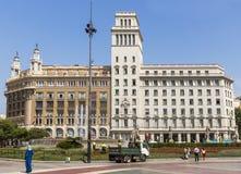 Plaza De Catalunya Stock Photo
