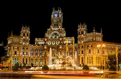 Plaza de Cibeles, Μαδρίτη Στοκ Φωτογραφία