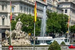 Plaza de Cibeles, Μαδρίτη, Ισπανία, Ευρώπη Στοκ Εικόνα