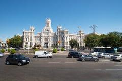 Plaza de Cibeles Μαδρίτη Ισπανία Στοκ Φωτογραφίες