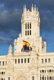Plaza de Cibeles, Μαδρίτη Στοκ φωτογραφία με δικαίωμα ελεύθερης χρήσης