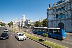 Plaza de Cibeles στη Μαδρίτη Στοκ Εικόνες