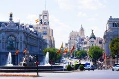 Plaza de Cibeles στη Μαδρίτη. Ισπανία Στοκ Φωτογραφία