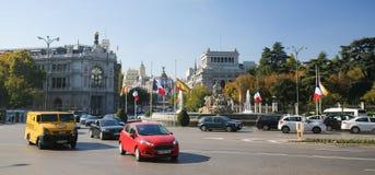 Plaza de Cibeles στη Μαδρίτη, Ισπανία Στοκ Εικόνες
