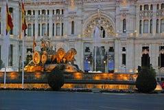 Plaza de Cibeles στη Μαδρίτη, Ισπανία Στοκ Φωτογραφία