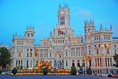Plaza de Cibeles στη Μαδρίτη, Ισπανία Στοκ φωτογραφία με δικαίωμα ελεύθερης χρήσης