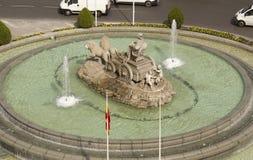 Plaza de Cibeles στη Μαδρίτη, Ισπανία Στοκ εικόνες με δικαίωμα ελεύθερης χρήσης