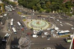 Plaza de Cibeles στη Μαδρίτη, Ισπανία Στοκ Φωτογραφίες