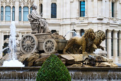 Plaza de Cibeles Fountain, Madrid Stock Image
