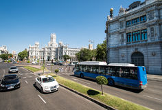 Plaza de Cibeles in Madrid Stock Images