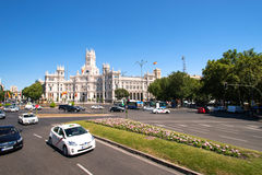 Plaza de Cibeles Madrid Royaltyfri Fotografi