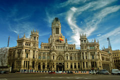 Plaza de Cibeles, Madrid, Espagne. Image stock