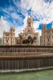 Plaza de Cibeles, Madrid, Spagna Fotografia Stock Libera da Diritti