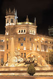 Plaza de Cibeles, Madrid, Spain. At night Stock Images