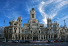 Plaza de Cibeles, Madrid, Spain. stock photos