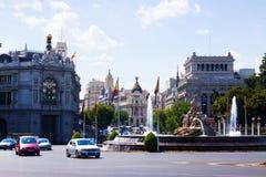 Plaza de Cibeles in Madrid, Spain Stock Photos