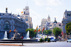 Plaza de Cibeles in Madrid. Spain Stock Photography
