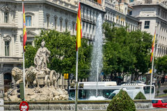 Plaza De Cibeles, Madrid, Spain, Europe stock image