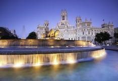 Plaza DE Cibeles, Madrid, Spanje. royalty-vrije stock fotografie