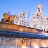 Plaza DE Cibeles, Madrid, Spanje. Royalty-vrije Stock Foto