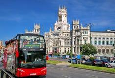 Plaza DE Cibeles, Madrid, Spanje royalty-vrije stock afbeeldingen