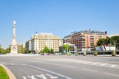 Plaza de Colon στη Μαδρίτη, Ισπανία Στοκ Εικόνες