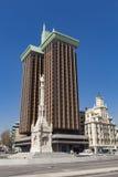 Plaza de Colon Columbus πλατεία στη Μαδρίτη, Ισπανία Στοκ φωτογραφία με δικαίωμα ελεύθερης χρήσης