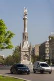 Plaza DE Colon in Madrid stock afbeelding