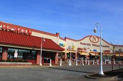 Plaza de compra Foto de Stock Royalty Free