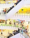 Plaza de compras central del mundo Imágenes de archivo libres de regalías