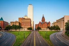 Plaza de Dallas, le Texas, Etats-Unis Dealey photographie stock