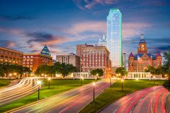 Plaza de Dallas, le Texas, Etats-Unis Dealey photographie stock libre de droits