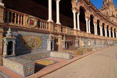 plaza de de details espana Images stock